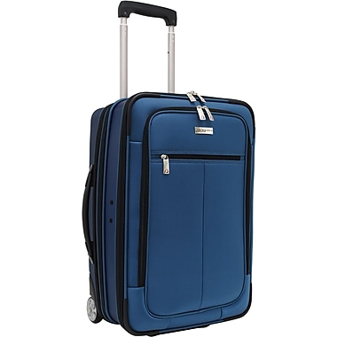 Traveler's Choice® TC0424 Sienna 21in. Hybrid Hard-Shell Rolling Upright Suitcase/Bag, Blue