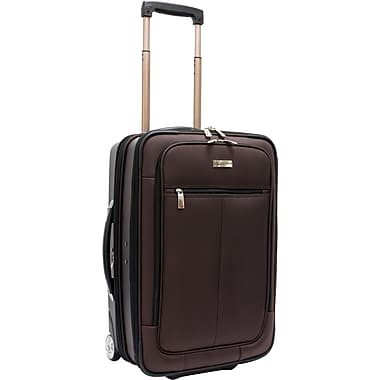 Traveler's Choice® TC0424 Sienna 21in. Hybrid Hard-Shell Rolling Upright Suitcase/Bag, Brown