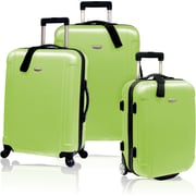Traveler's Choice® TC2400 FREEDOM 3-Piece Hard-Shell Spin/Rolling Travel Luggage Set, Apple Green