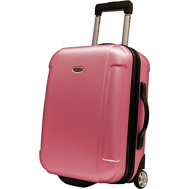 Traveler's Choice® TC2400 FREEDOM 21in. Hard-Shell Wheeled Upright Luggage Suitcase, Pink