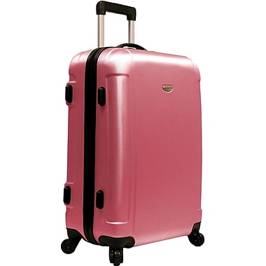 Traveler's Choice® TC2400 FREEDOM 25in. Hard-Shell Wheeled Upright Luggage Suitcase, Pink