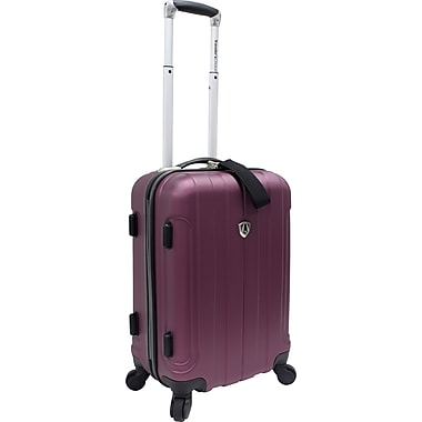 Traveler's Choice® TC3800 Cambridge 20in. Hardsided Carry-On Spinner Luggage Suitcase, Plum
