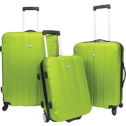 Traveler's Choice® TC3900 Rome 3-Piece Hard-Shell Spin/Rolling Luggage Set, Green