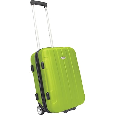 Traveler's Choice® TC3900 Rome 21in. Hard-Shell Carry-On Upright Luggage Suitcase, Green
