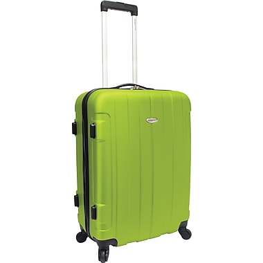 Traveler's Choice® TC3900 Rome 25in. Hard-Shell Spinner Upright Luggage Suitcase, Green