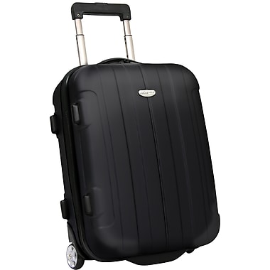 Traveler's Choice® TC3900 Rome 21in. Hard-Shell Carry-On Upright Luggage Suitcase, Black