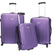 Traveler's Choice® TC3900 Rome 3-Piece Hard-Shell Spin/Rolling Luggage Set, Purple