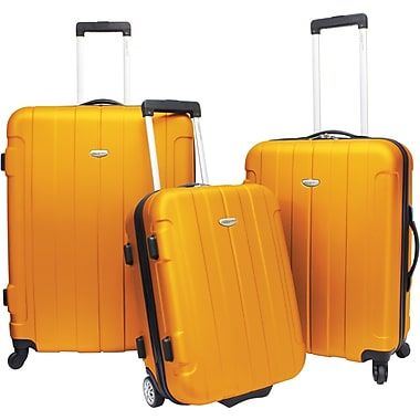 Traveler's Choice® TC3900 Rome 3-Piece Hard-Shell Spin/Rolling Luggage Set, Orange