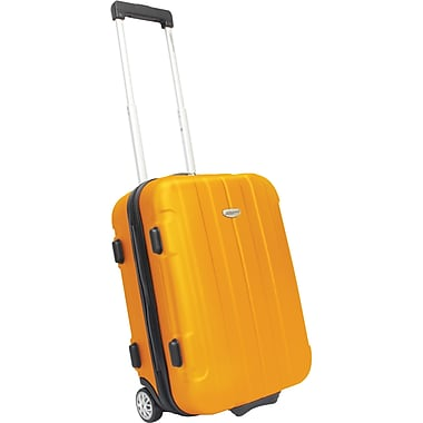 Traveler's Choice® TC3900 Rome 21in. Hard-Shell Carry-On Upright Luggage Suitcase, Orange
