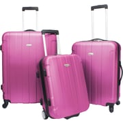 Traveler's Choice® TC3900 Rome 3-Piece Hard-Shell Spin/Rolling Luggage Set, Pink