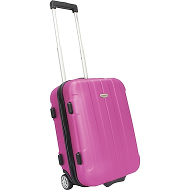 Traveler's Choice® TC3900 Rome 21in. Hard-Shell Carry-On Upright Luggage Suitcase, Pink
