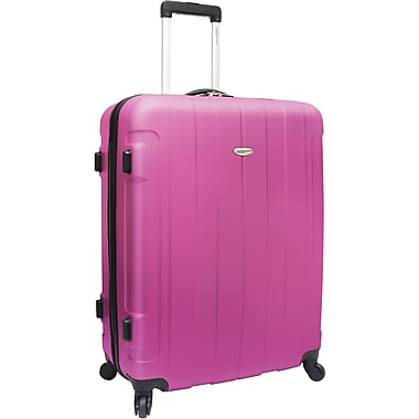 Traveler's Choice® TC3900 Rome 29in. Hard-Shell Spinner Upright Luggage Suitcase, Pink