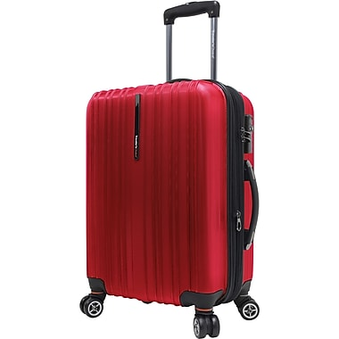Traveler's Choice® TC5000 Tasmania 21in. Expandable Spinner Luggage Suitcase, Cherry Red