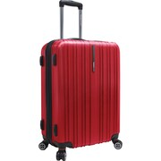 "Traveler's Choice® TC5000 Tasmania 25"" Expandable Spinner Luggage Suitcase, Cherry Red"