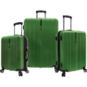 Traveler's Choice® TC5000 Tasmania 3-Piece Expandable Spinner Luggage Set, Green