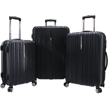 Traveler's Choice® TC5000 Tasmania 3-Piece Expandable Spinner Luggage Set, Black