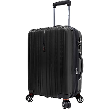Traveler's Choice® TC5000 Tasmania 21in. Expandable Spinner Luggage Suitcase, Black