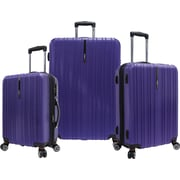 Traveler's Choice® TC5000 Tasmania 3-Piece Expandable Spinner Luggage Set, Purple