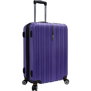 Traveler's Choice® TC5000 Tasmania 25in. Expandable Spinner Luggage Suitcase, Purple