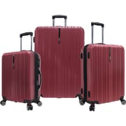 Traveler's Choice® TC5000 Tasmania 3-Piece Expandable Spinner Luggage Set, Red