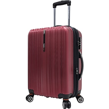 Traveler's Choice® TC5000 Tasmania 21in. Expandable Spinner Luggage Suitcase, Red