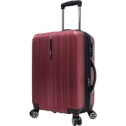 "Traveler's Choice® TC5000 Tasmania 21"" Expandable Spinner Luggage Suitcase, Red"