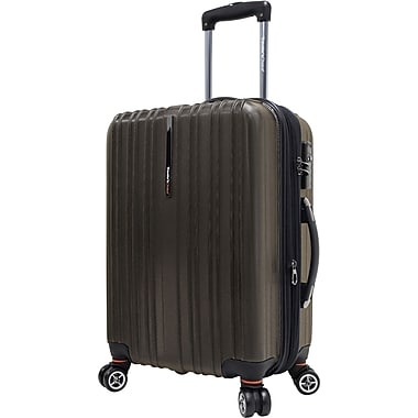 Traveler's Choice® TC5000 Tasmania 21in. Expandable Spinner Luggage Suitcase, Dark Brown