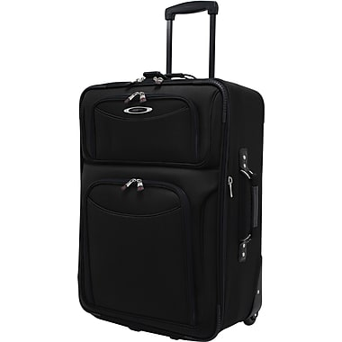 Traveler's Choice® TC5100 El Dorado 21in. Expandable Carry-On Luggage Suitcase, Black