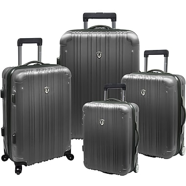 Traveler's Choice® TC5800 New Luxembourg 4-Piece Expandable Hard-sided Luggage Set, Titanium