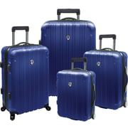 Traveler's Choice® TC5800 New Luxembourg 4-Piece Expandable Hard-sided Luggage Set, Blue