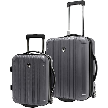 Traveler's Choice® TC5802 New Luxembourg 2-Piece Carry-On Hardsided Luggage Set, Titanium