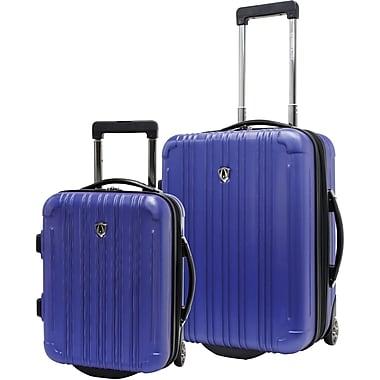 Traveler's Choice® TC5802 New Luxembourg 2-Piece Carry-On Hardsided Luggage Set, Blue