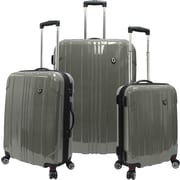 Traveler's Choice® TC8000 Sedona 3-Piece Expandable Spinner Luggage Set, Pewter