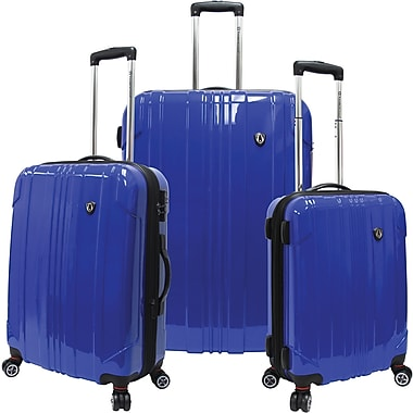 Traveler's Choice® TC8000 Sedona 3-Piece Expandable Spinner Luggage Set, Blue