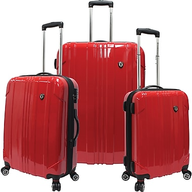 Traveler's Choice® TC8000 Sedona 3-Piece Expandable Spinner Luggage Set, Red