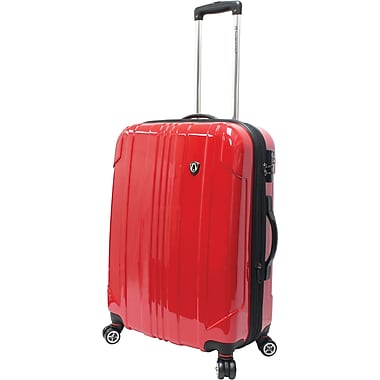 Traveler's Choice® TC8000 Sedona 25in. Expandable Spinner Luggage Suitcase, Red