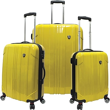 Traveler's Choice® TC8000 Sedona 3-Piece Expandable Spinner Luggage Set, Yellow