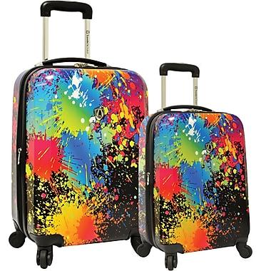 Traveler's Choice® TC8200K Midway Paint Splatter 2-Piece Hardsided Expandable Luggage Set
