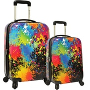 Traveler's Choice® TC8200K Midway Paint Splatter 2-Piece Hardsided Expandable Luggage Set