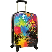 "Traveler's Choice® TC8200 Midway 29"" Hardside Spinner Luggage Suitcase, Paint Splatter Print"