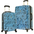 Traveler's Choice® TC8200 Midway 2-Piece Hardside Expandable Luggage Set, Blue Tribal Print
