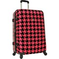 Traveler's Choice® TC8200 Midway 29in. Hardside Spinner Luggage Suitcase, Pink Houndstooth Print