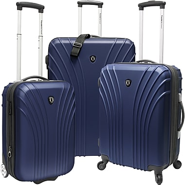 Traveler's Choice® TC8500 Cape Verde 3-Piece Hardsided Ultra Lightweight Luggage Set, Navy