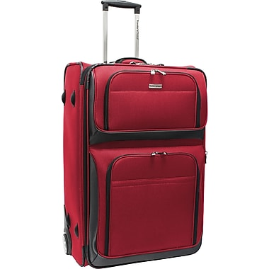 Traveler's Choice® TC9700 Conventional Rugged 29in. Expandable Wheeled Upright Luggage Suitcase, Red