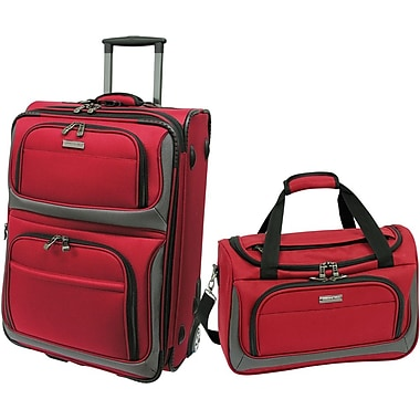 Traveler's Choice® TC9702 2-Piece Lightweight Carry-On Luggage Set, Red