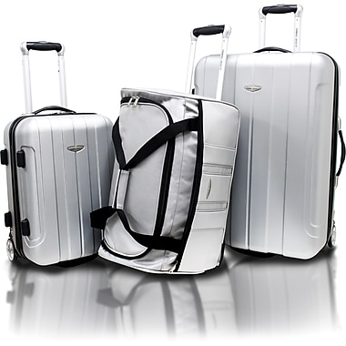 Travel Select® TS7800 3-Piece Hard-Shell Lightweight Luggage Set, Silver