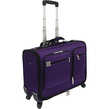 U.S.® Traveler US0421 Carry-On Spinner Providence Garment Bag, Purple