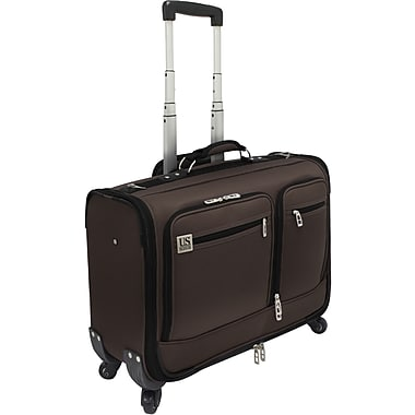U.S.® Traveler US0421 Carry-On Spinner Providence Garment Bag, Brown