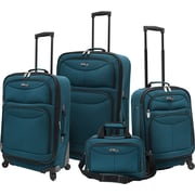 U.S.® Traveler US3600 Fashion 4-Piece Spinner Luggage Set, Teal