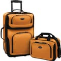 U.S.® Traveler US5600 Rio 2-Piece Expandable Carry-On Luggage Set, Mustard